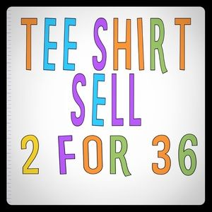 graphic tees 2 for 36 regular 48 to 50